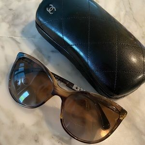 Chanel tortoise sunglasses, lightly used